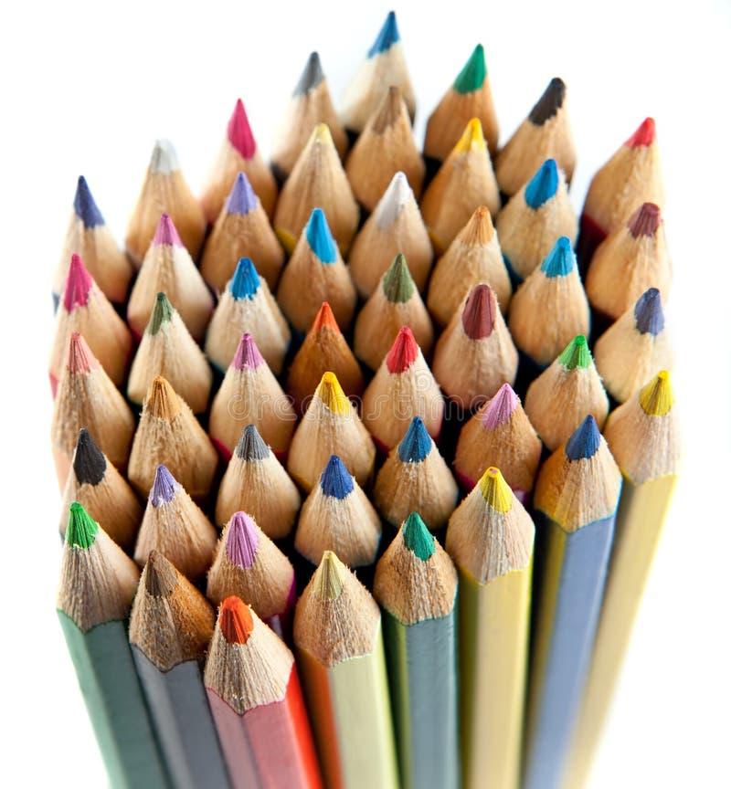 La couleur crayonne le fond photos stock
