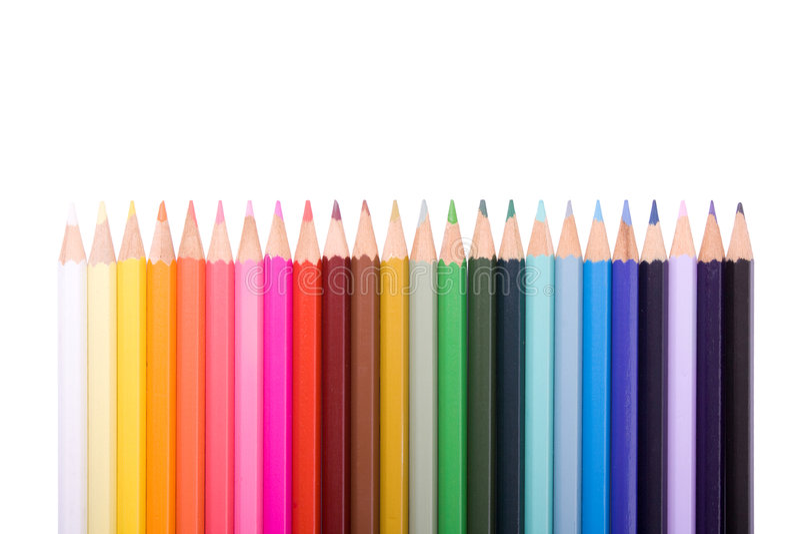 La couleur crayonne le ramassage photo stock