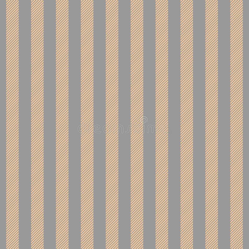 La couleur de platine d'or a barré le modèle sans couture de texture de tissu illustration de vecteur