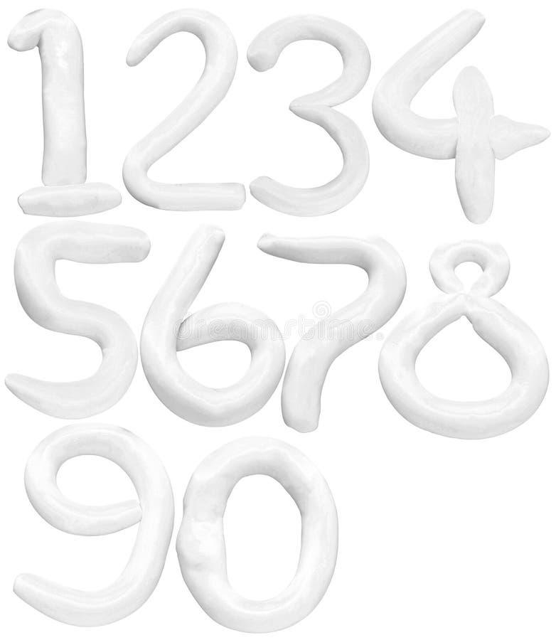La couleur douce du numéro 1 0 a isolé le backgro blanc images libres de droits