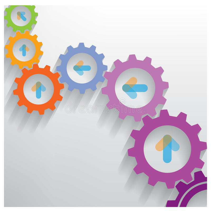 La couleur embraye la bannière d'options de nombre d'Infographics illustration stock