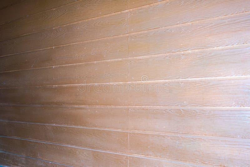 La couleur en bois de fond est Brown pour le mur images libres de droits