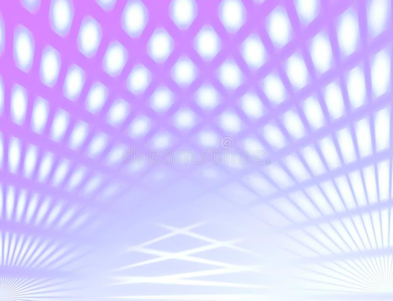 La couleur et la tache floue pourpres regardent le fond abstrait avec la ligne effet illustration de vecteur