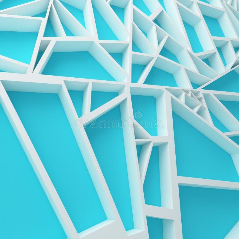 La couleur expulsent le fond 3d abstrait illustration de vecteur