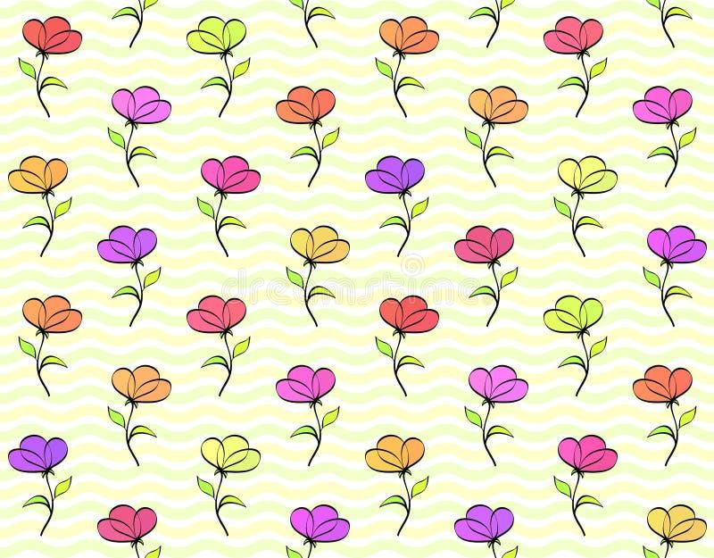 La couleur fleurit - le fond sans couture photos libres de droits