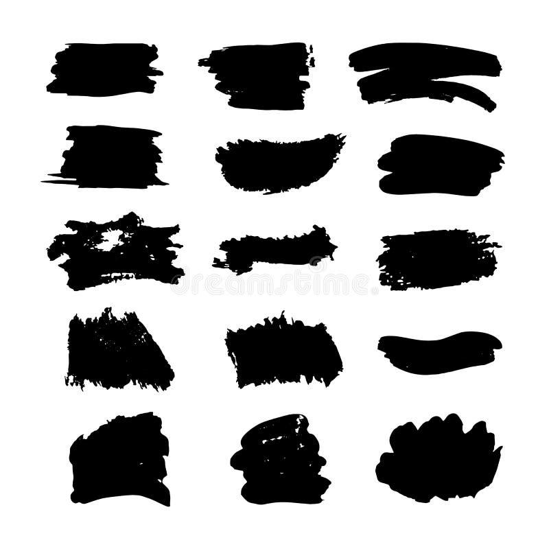 La couleur grunge de course de brosse de forme de brosse de texture d'abrégé sur calomnie de fond repère différentes formes image libre de droits