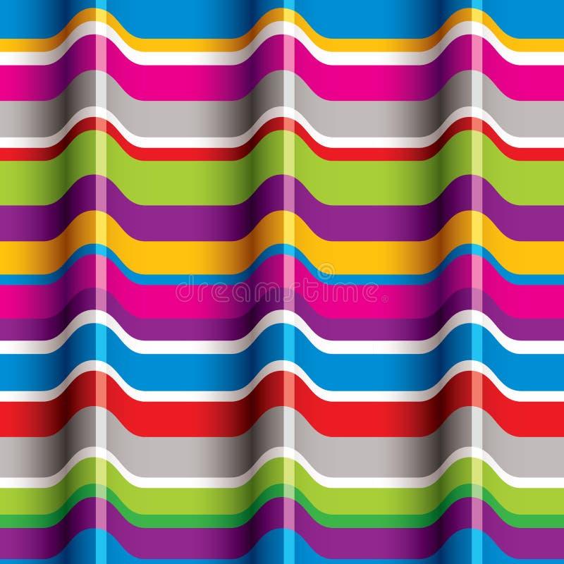La couleur ondule le modèle sans couture illustration stock