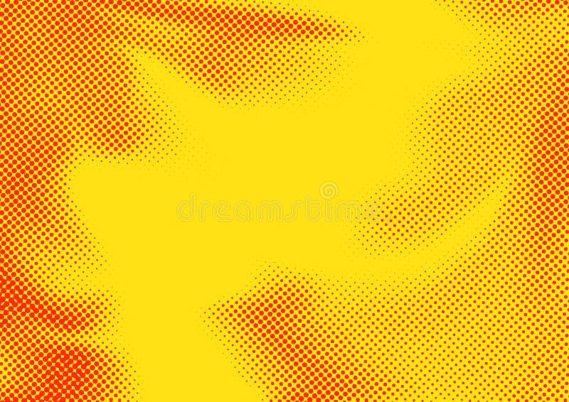 La couleur rouge orange lumineuse a pointillé le modèle abstrait d'image tramée d'art de bruit illustration libre de droits