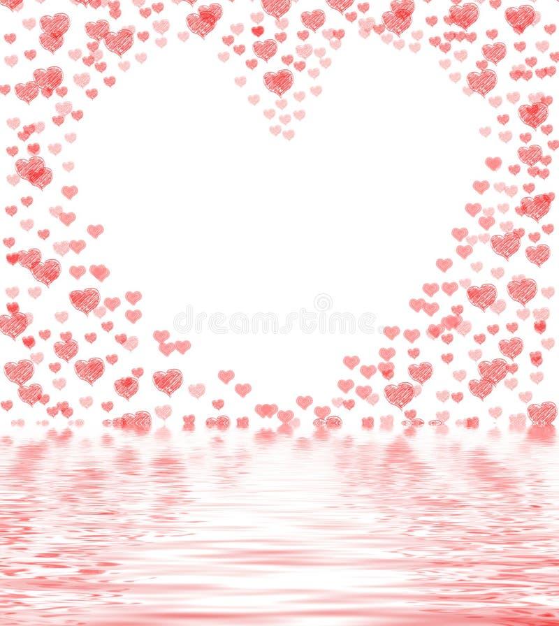 La coupe de coeur du fond montre le beau mariage ou passionné illustration de vecteur