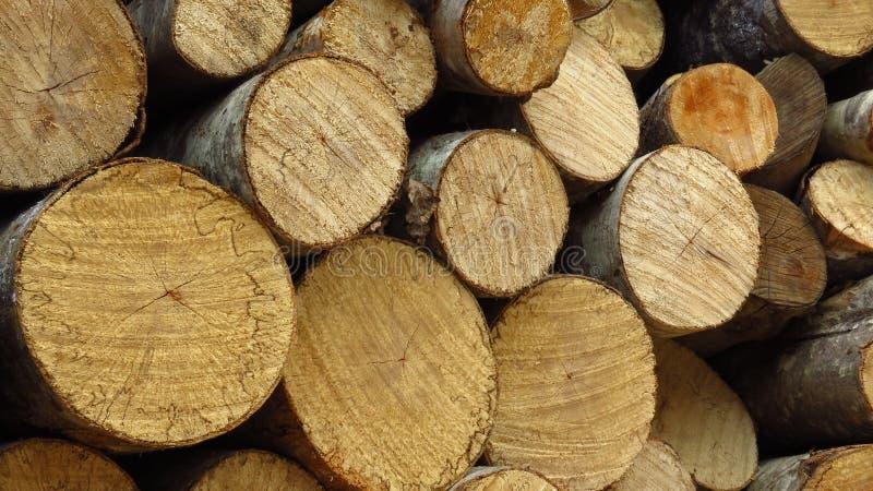 La coupe en bois de pile rapièce le bois de chauffage photos libres de droits
