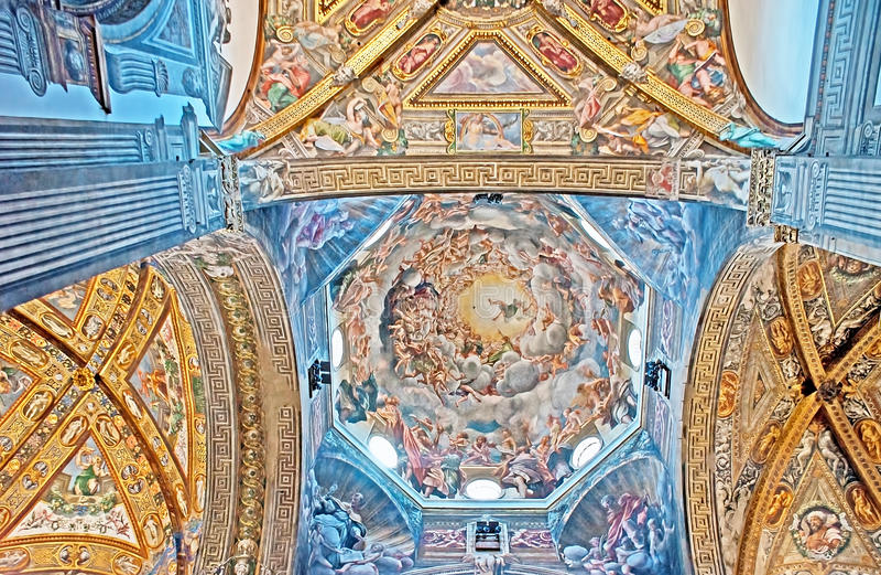 La coupole de la cathédrale de Parme photo stock