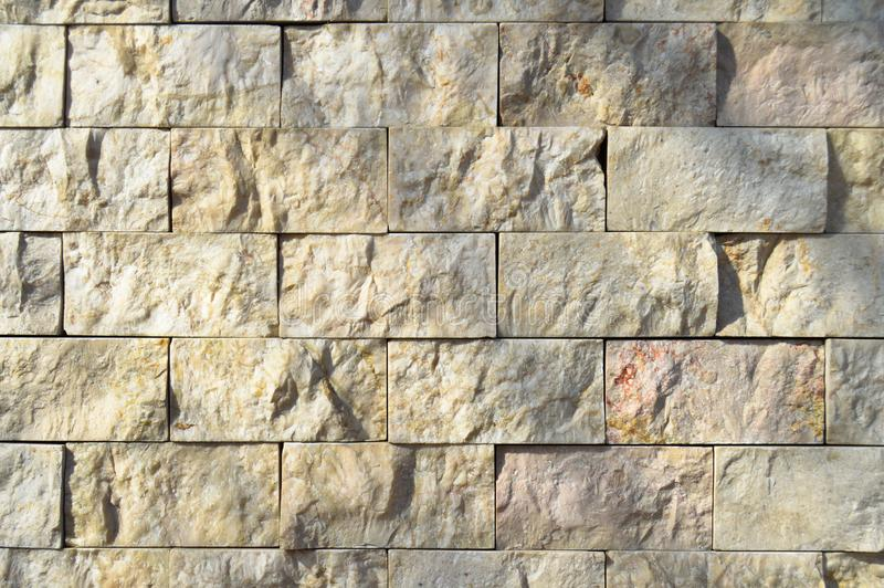 La coupure du mur de marbre beige, a align? photo stock