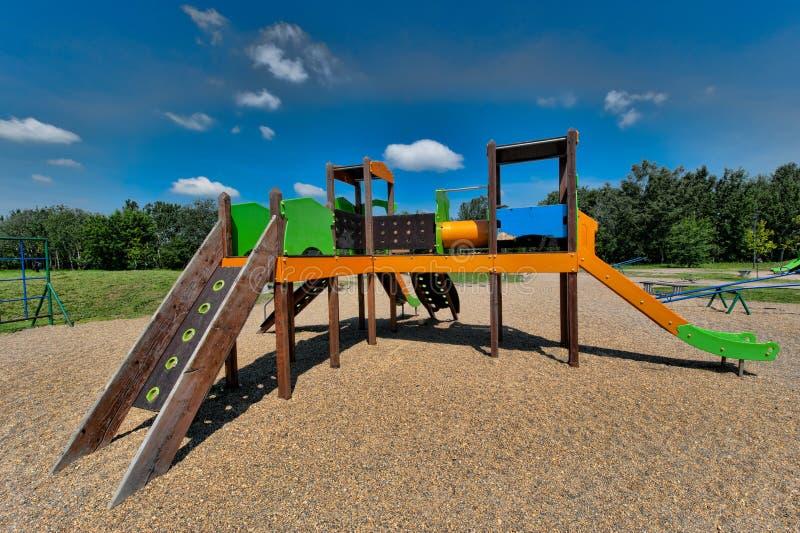 La cour de jeu des enfants photographie stock libre de droits