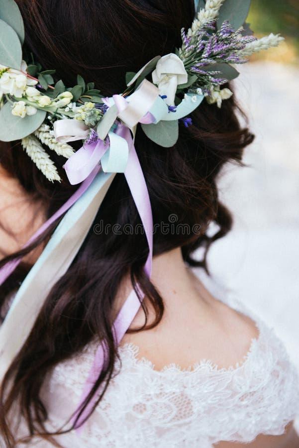 La couronne du bouquet rustique photographie stock