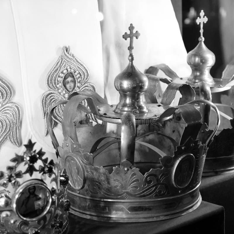 La couronne P?kin, photo noire et blanche de la Chine image stock