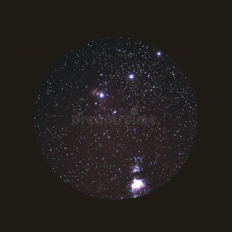 La courroie d'Orion image libre de droits