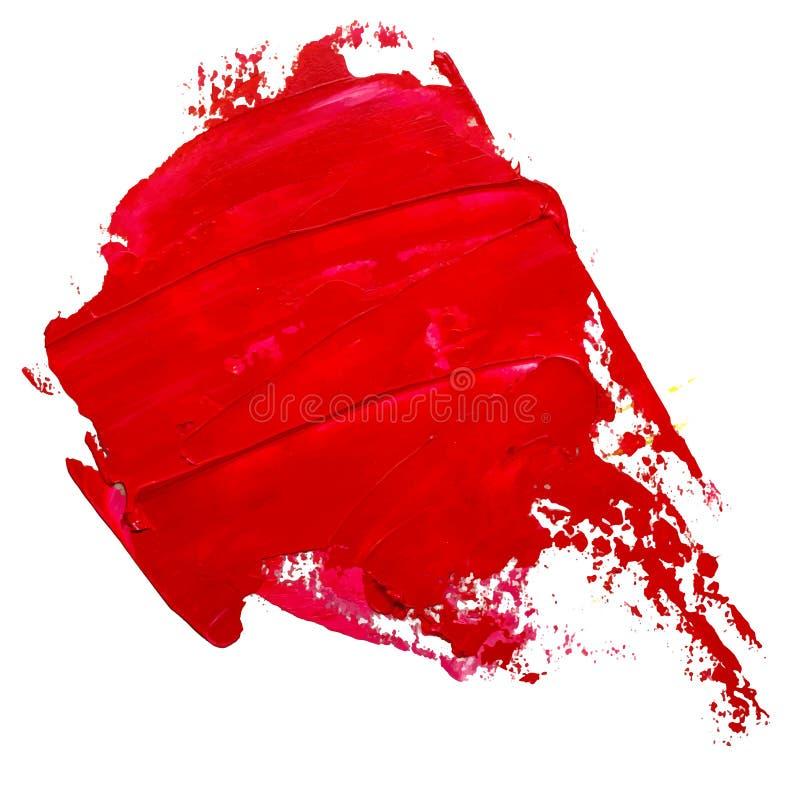 La course rouge de brosse de peinture à l'huile, ressemble à la bulle de la parole illustration de vecteur