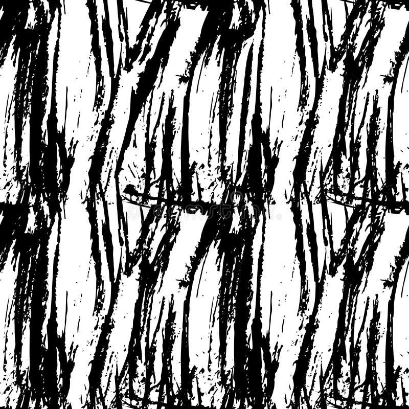 La course sèche de brosse incurvée par grunge a affligé la texture sans couture illustration de vecteur