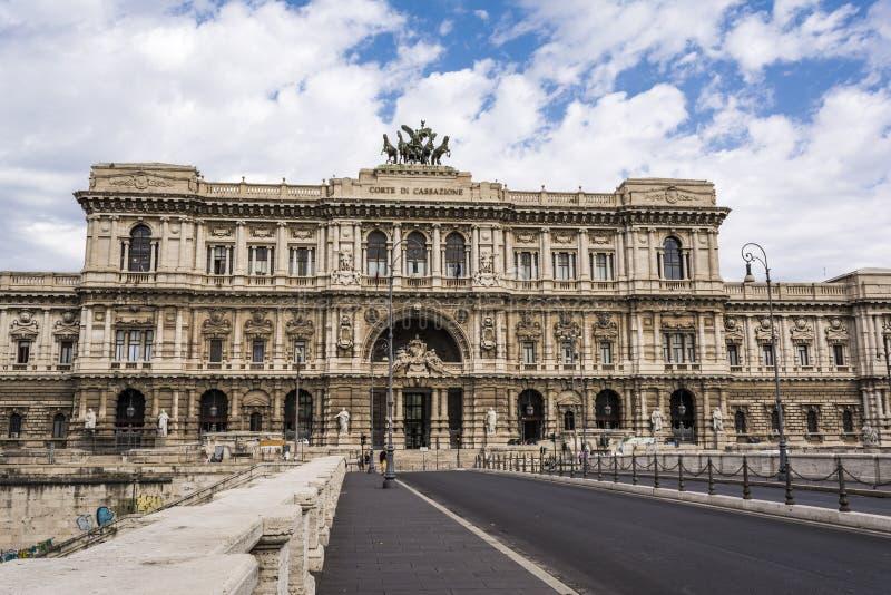 La court suprême de la cassation à Rome, Italie images stock