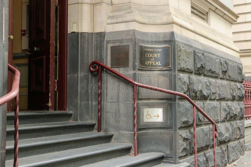 La court suprême de l'appel entend des appels contre des décisions criminelles et civiles des juridictions suprêmes et de Tribuna photographie stock