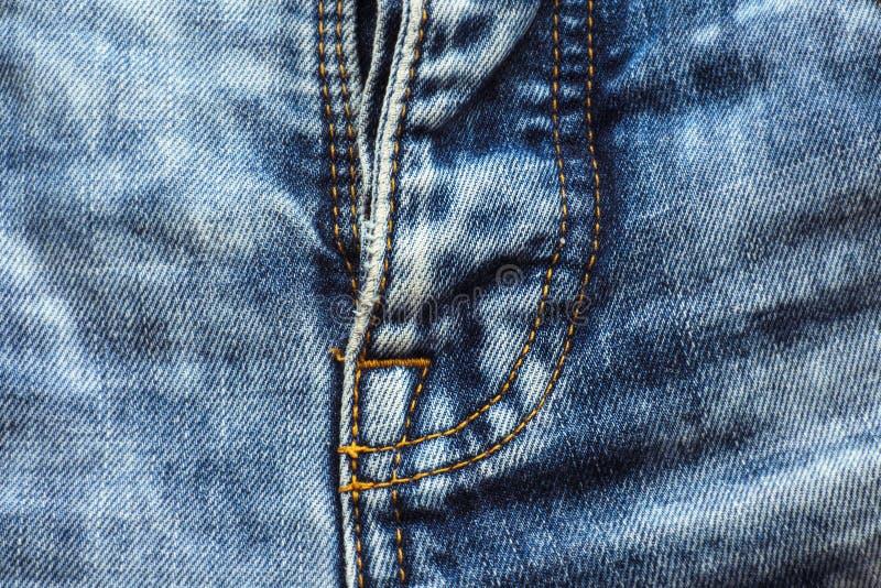 La couture sur des blues-jean, zipper l'avant images libres de droits