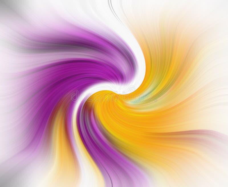 La création de nouvelles couleurs de modèle de fond de vortex de trou noir d'univers tourbillonnent conception de pirouette illustration de vecteur