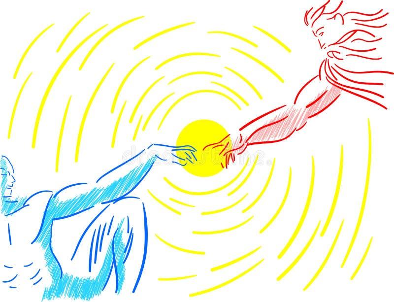 La création stylisée colorée d'Adam a isolé illustration stock