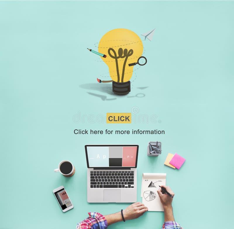 La créativité créative inspirent le concept d'innovation d'idées illustration de vecteur