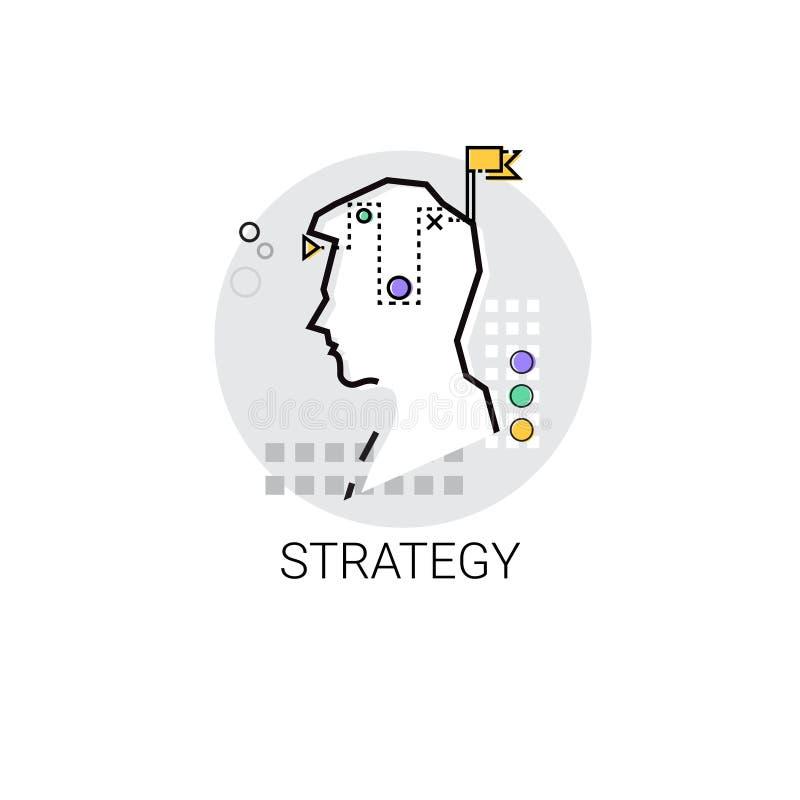 La créativité de stratégie pensent l'icône de processus créative d'affaires de nouvelle inspiration d'idée illustration libre de droits