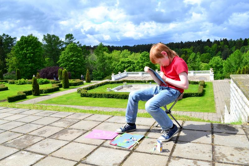 La créativité des enfants photographie stock libre de droits