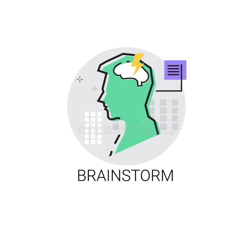 La créativité pensent l'icône de processus créative d'affaires de nouvel échange d'idées d'idée illustration stock