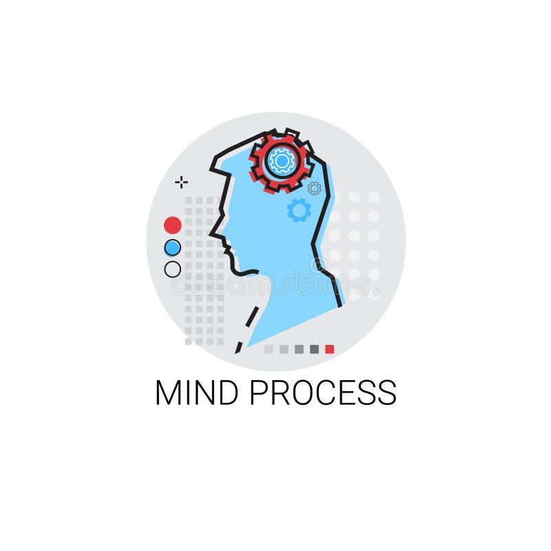 La créativité pensent l'icône de processus créative d'affaires de nouvelle inspiration d'idée illustration stock