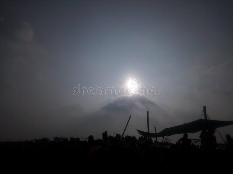 La crête du soleil images libres de droits