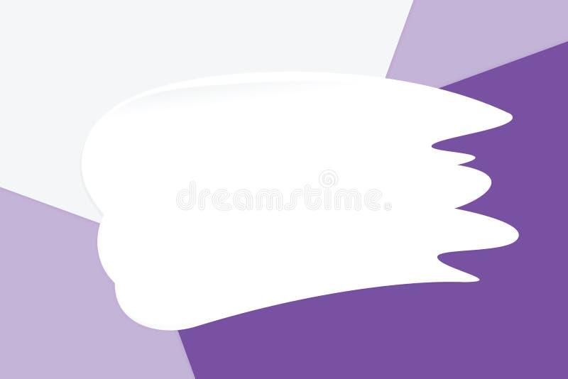 La crema bianca della sbavatura sui cosmetici di carta molli pastelli variopinti del fondo per la copia spazia il messaggio, stil illustrazione di stock
