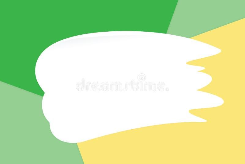 La crema bianca della sbavatura sui cosmetici di carta molli pastelli variopinti del fondo per la copia spazia il messaggio, stil illustrazione vettoriale
