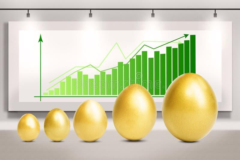 La crescita di profitto eggs il diagramma royalty illustrazione gratis