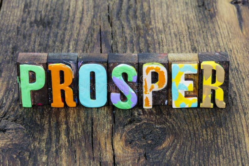 La crescita prospera e il successo della ricchezza si traduce in un atteggiamento positivo per la prosperità fotografie stock libere da diritti