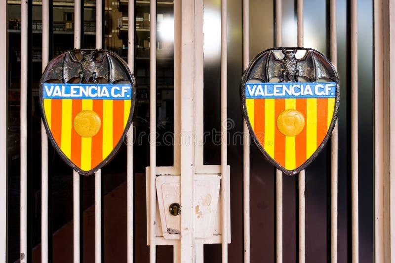 La cresta de Valencia Football Club imagen de archivo libre de regalías