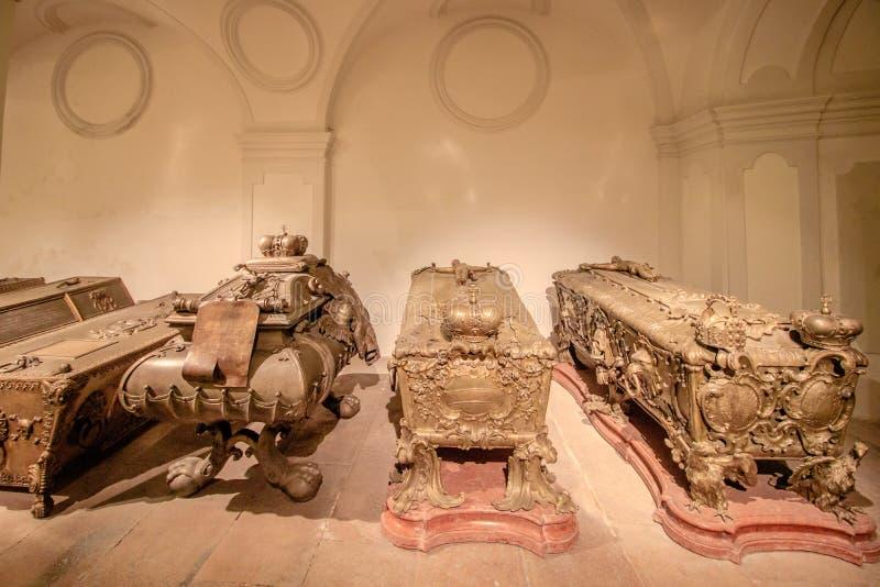 La cripta imperial en el nuevo mercado en Viena Austria fotos de archivo libres de regalías