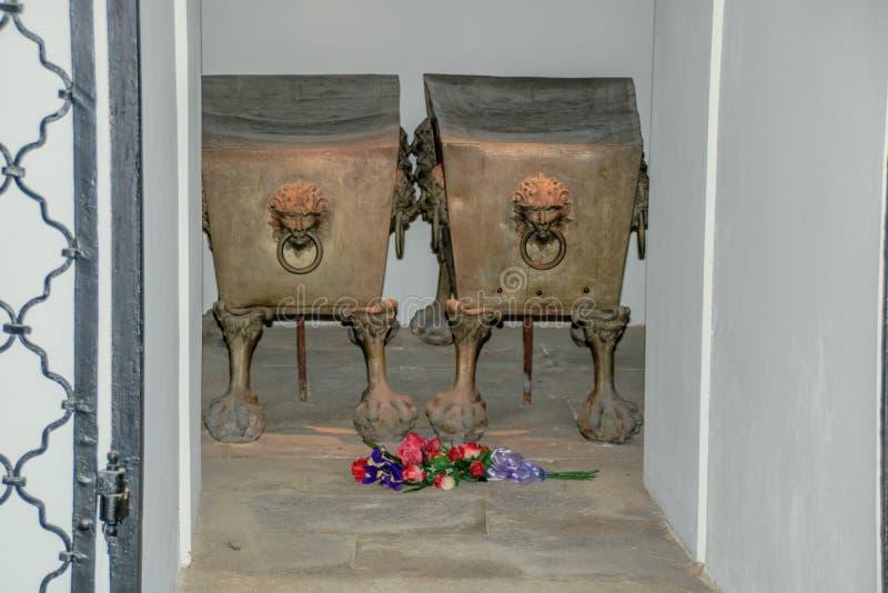 La cripta imperial en el nuevo mercado en Viena Austria fotos de archivo