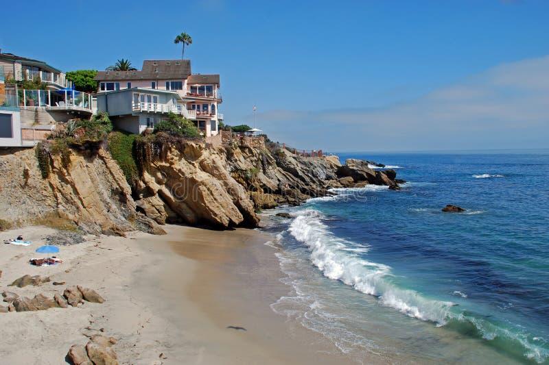 Crique en bois, Laguna Beach, la Californie. photos libres de droits