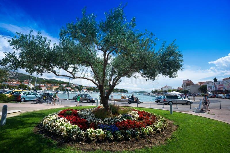 La Croatie, île Rab, port photographie stock