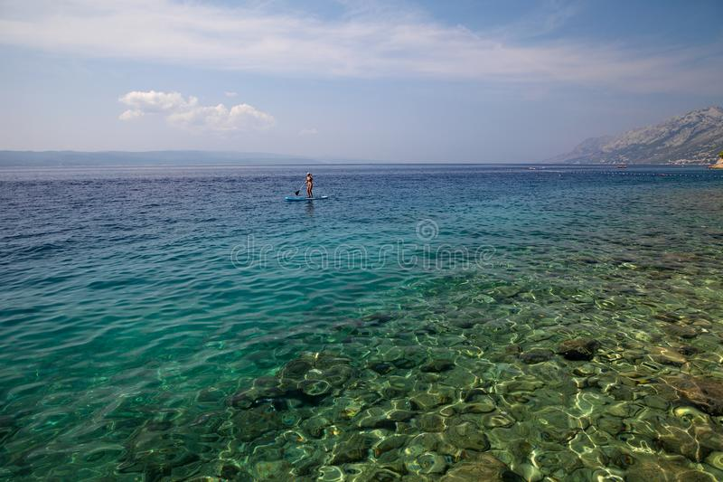 La Croatie - Brela, Makarska la Riviera, Dalmatie, Mer Adriatique photo libre de droits