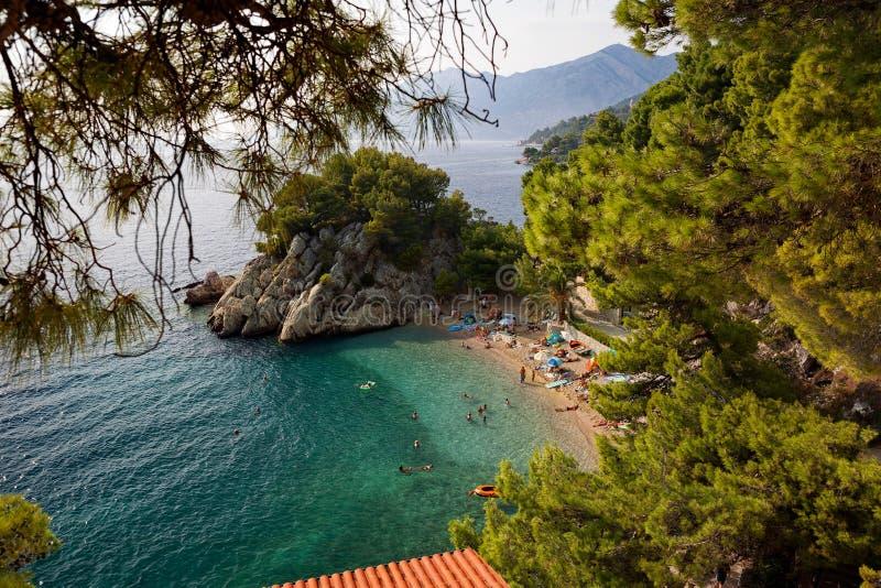 La Croatie - Brela, Makarska la Riviera, Dalmatie, Mer Adriatique photos stock