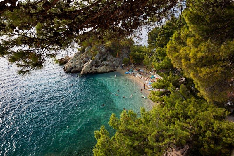 La Croatie - Brela, Makarska la Riviera, Dalmatie, Mer Adriatique image libre de droits