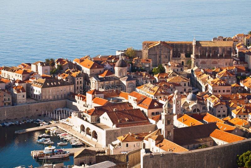 La Croatie, côte de Dalmation, Dubrovnik image libre de droits