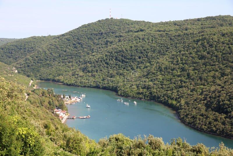 La Croatie - canal de Limsky images stock