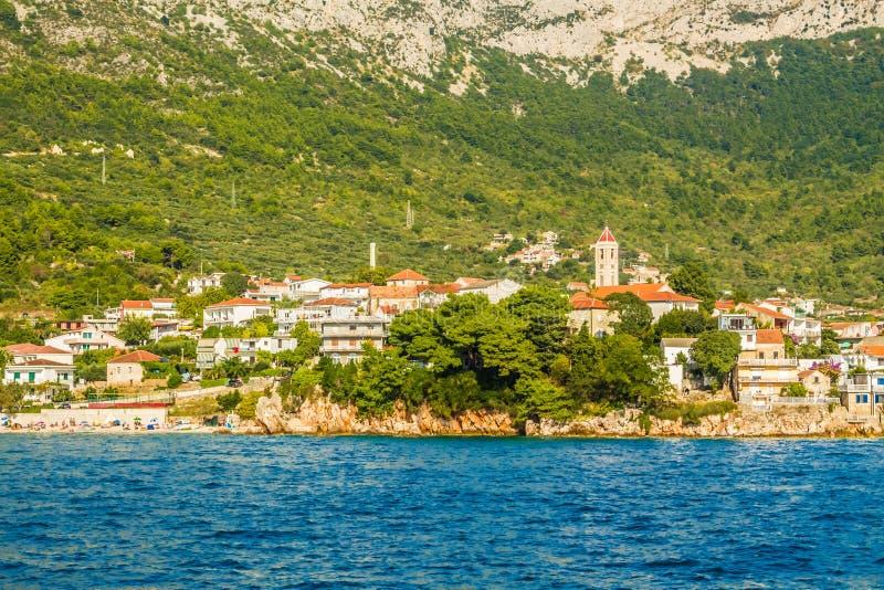 La Croatie - Makarska la Riviera - Gradac - paysage côtier images stock