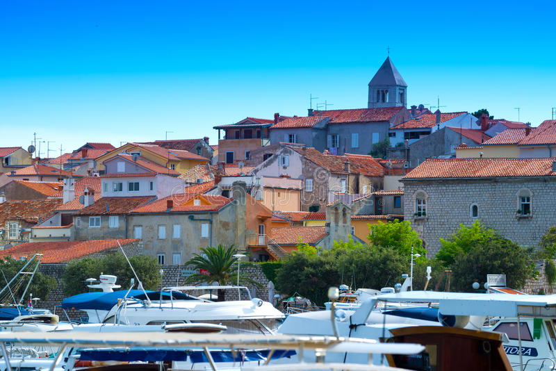 La Croatie, port de Rab City photo stock
