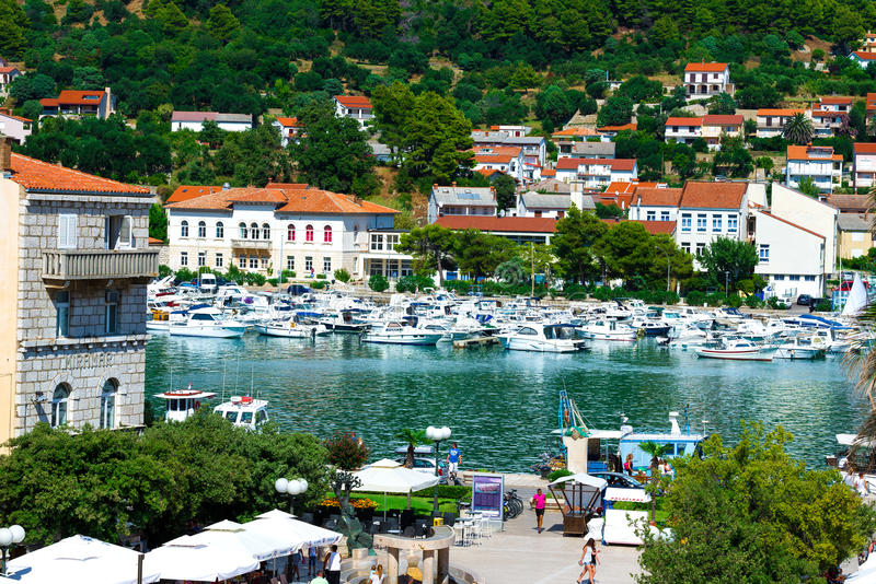 La Croatie, port de Rab City images libres de droits